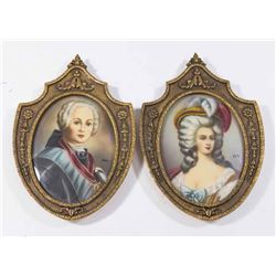 Pair of Oval European Portraits