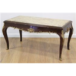 Bronze Mounted Marble Top Coffee Table