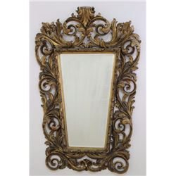 Giltwood Rococo Style Bevelled Mirror