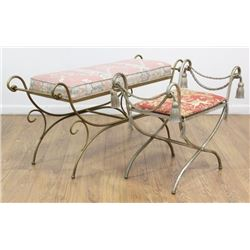 2 Metal Benches