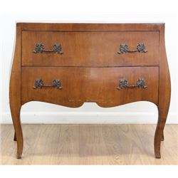 2-Drawer Italian Style Bombe Commode