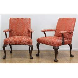 Pair George III Style Chesterfield Style Chairs