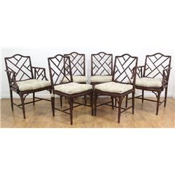 Set 6 Faux Bamboo Chairs