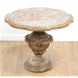 Marble Top Italian Giltwood Table