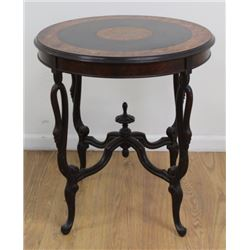 Italian Carved Walnut Round Table