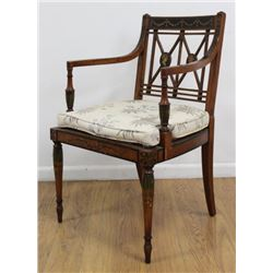 Adams Style Paint Decorated Desk Chair