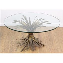 Sheaf of Wheat Glass Top Coffee Table