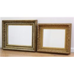 2 Antique Gold Leaf Wood Frames