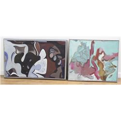 William H. Littlefield, Two Abstracts, O/C