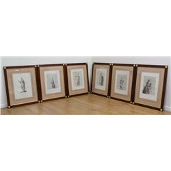 Set of 6-19th Century Classical Prints