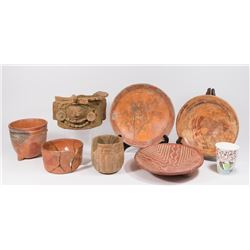 Group Lot of Mayan Pottery & Stoneware