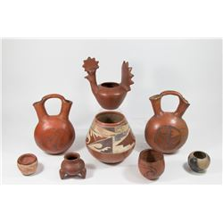 8 Mexican Pottery Vessels