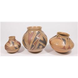 Lot 3 Mata Ortiz, Mexico Vases
