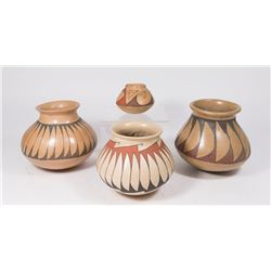 Lot 4 Mata Ortiz, Mexico Pottery Vases