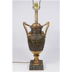 Bronze Urn Mounted as Lamp