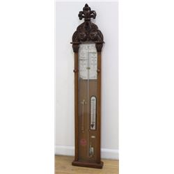 Carved Wood Barometer