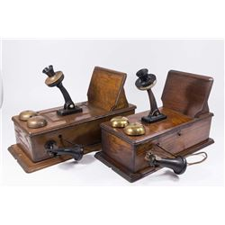 2 Crank Wall Oak Telephones