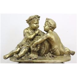 Bronze Cherubs Fountain Sculpture