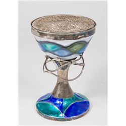 Silver & Enameled Incense Burner