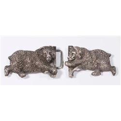 Russian Silver Bear Buckle