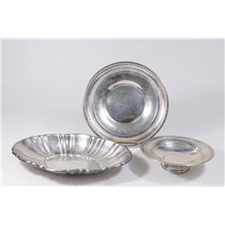 Sterling Silver Plate, Bread Tray & Bowl