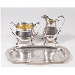 Sterling Silver Wallace Sugar & Creamer