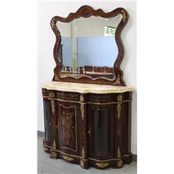Marble Top French Style Sideboard with Mirror
