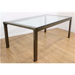 Mastercraft Brass & Glass Dining Room Table