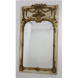 1920s Paint Decorated Italian Trumeau Mirror