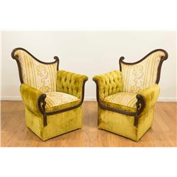 Pair 1930s Fireside Chairs
