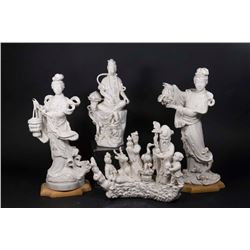 4 Blanc de Chine Chinese Figures