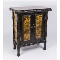 Asian Bamboo & Wood Diminutive Cabinet