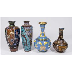 4 Chinese Cloisonné Vases
