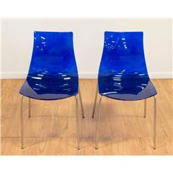 "Pair Calligaris ""Ice"" Chairs"