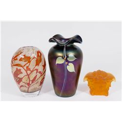 3 Pieces Art Glass