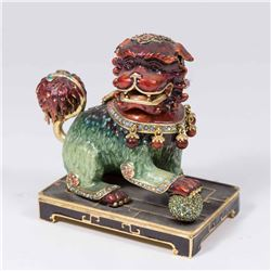 Jay Strongwater Limited Edition Jeweled Foo Dog