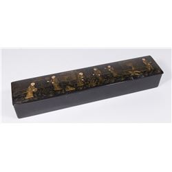 Lacquered Chinese Brush Holder Box