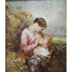 Attributed to J. Barrois, Mother & Child
