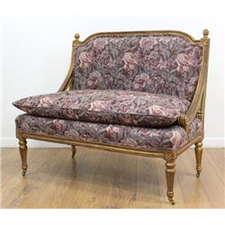 Louis XVI Style Floral Upholstered Loveseat