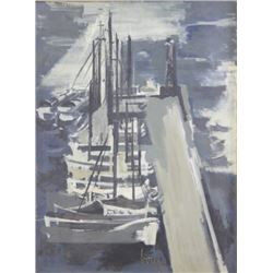 Jeannie Borel, Boats at Quai, Abstract