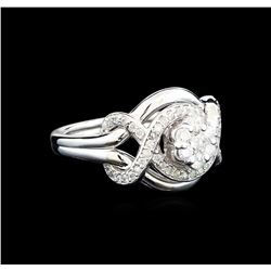 0.56 ctw Diamond Ring - 14KT White Gold