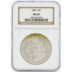 1887 MS63 NGC Morgan Silver Dollar
