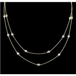 1.35 ctw Diamond Necklace - 14KT Yellow Gold