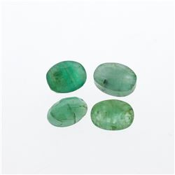 4.74 cts. Oval Cut Natural Emerald Parcel