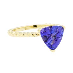2.62 ctw Tanzanite Ring - 14KT Yellow Gold