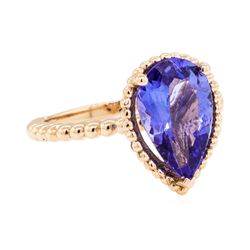 2.77 ctw Tanzanite Ring - 14KT Rose Gold