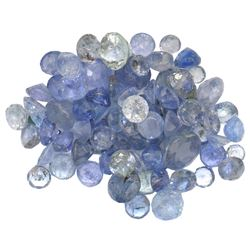 11.42 ctw Round Mixed Tanzanite Parcel