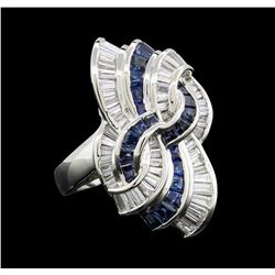 1.33 ctw Sapphire and Diamond Ring - Platinum