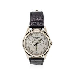 Patek Philippe 18KT White Gold Annual Calendar Automatic Wristwatch