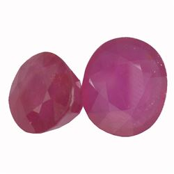 15.38 ctw Oval Mixed Ruby Parcel